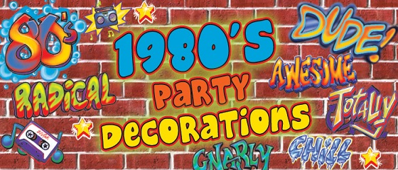 1980s themed party supplies