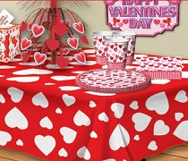 Valentines Day Decorations and Tableware