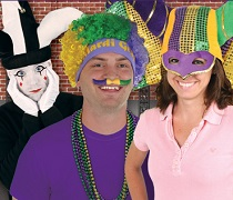 Mardi Gras Hats, Tiaras, and Head Boppers