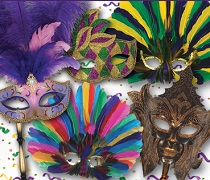 Mardi Gras Masks and Costume Accessories