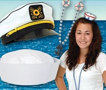 Nautical costume accessories in bulk