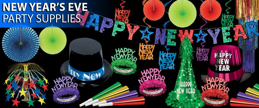 Discount new year party supplies for New year eve party ideas