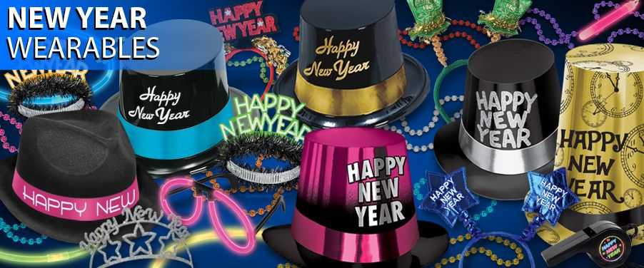 new years eve hats, tiaras, and costume accessories