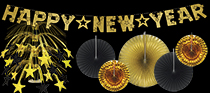 bulk black and gold nye decorations