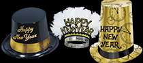 bulk black and gold nye hats and tiaras
