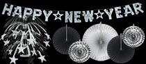 wholesale black and silver nye decorations