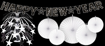 bulk black and white nye decorations