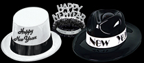 bulk black and white nye hats and tiaras