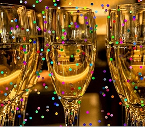 champagne glasses for new year's eve image