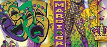 Mardi Gras party supplies image