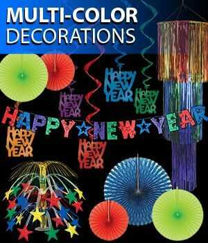 Bright Colored Happy New Year Decorations