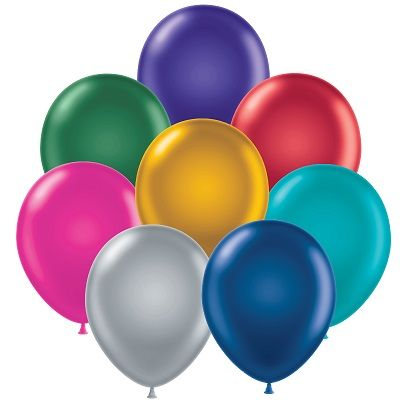 "11"" Metallic Balloons (Pack of 144) - SELECT A COLOR 11, inches, metallic, balloons, new years eve, decoration, centerpiece, drop, wholesale, inexpensive, bulk"