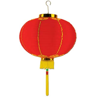"Red 12"" Good Luck Lantern with Tassel"