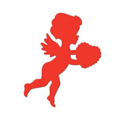 "13"" Printed Red Cupid Cutout wall decoration"