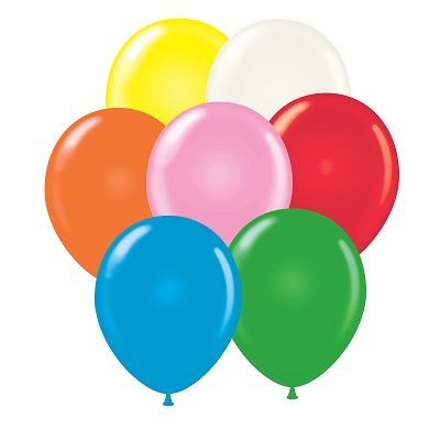 Assorted colored latex balloons for birthdays