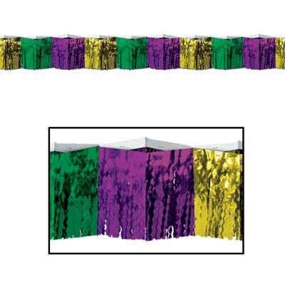 2-Ply Diamond Metallic Fringe Drape for Mardi Gras
