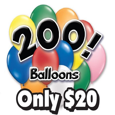 clearance balloon sale 200 balloons for $20