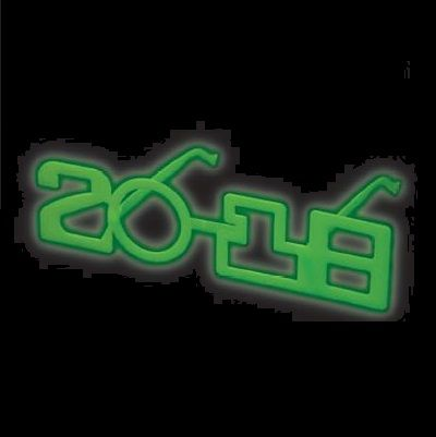 2018 Glow in the Dark New Years Eve Glasses