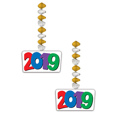 """2019"" Danglers (Pack of 24) 2019, Danglers, new years eve, nye, graduation, happy new year, new year,"