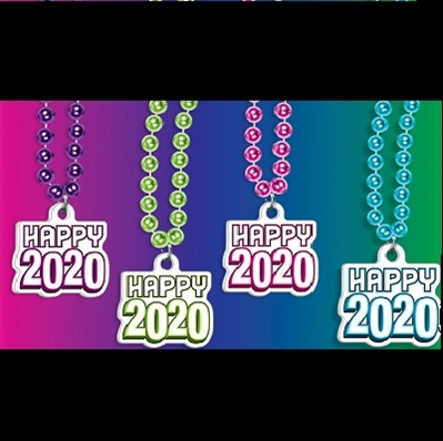 2020 Happy New Year Party Beads New Years Eve Party Beads, Happy New Year Necklace, 2020 Party Necklace, 2020 Party Beads, New Years Eve 2020