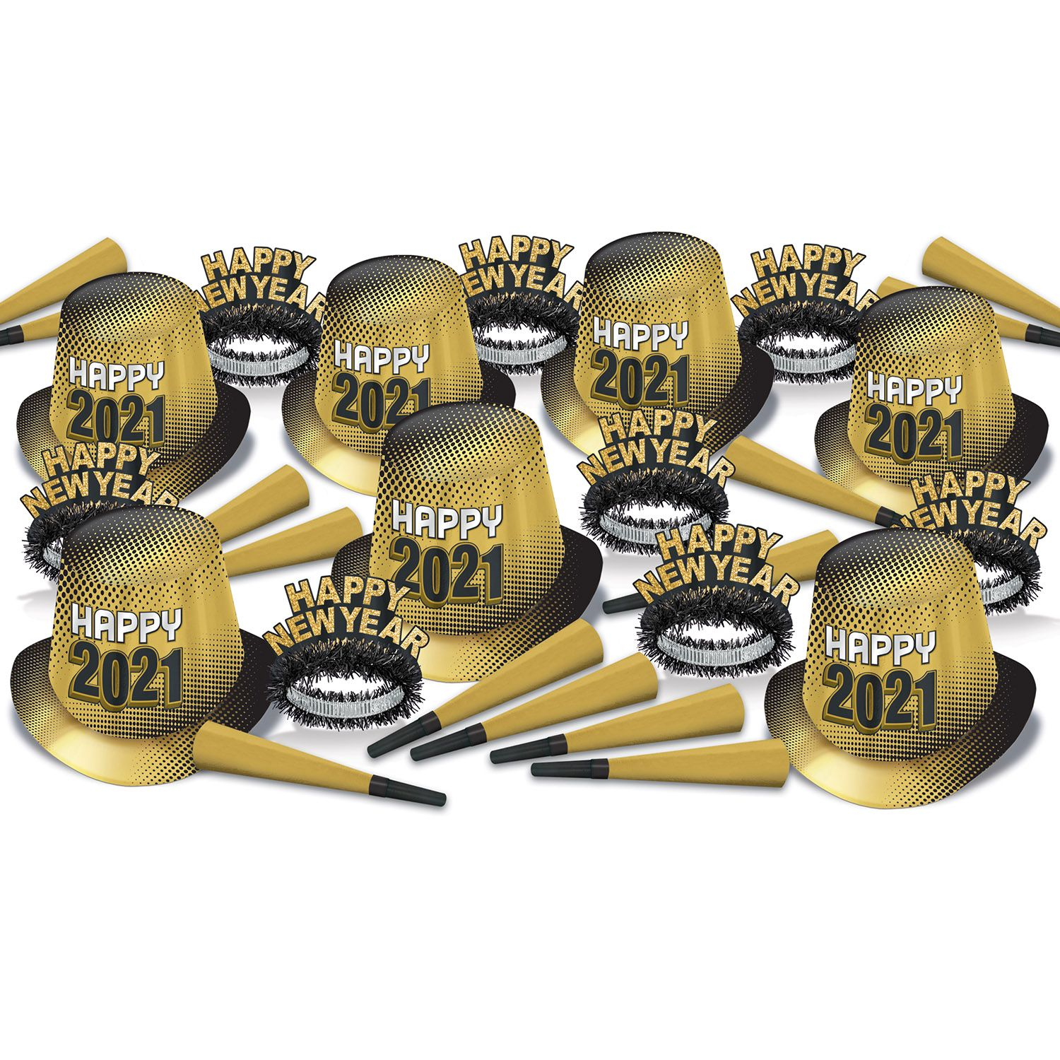 2021 New Year Assortment Party Kit for 50 (gold)
