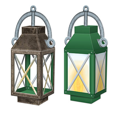 3-D Lantern Centerpiece printed on card stock material,