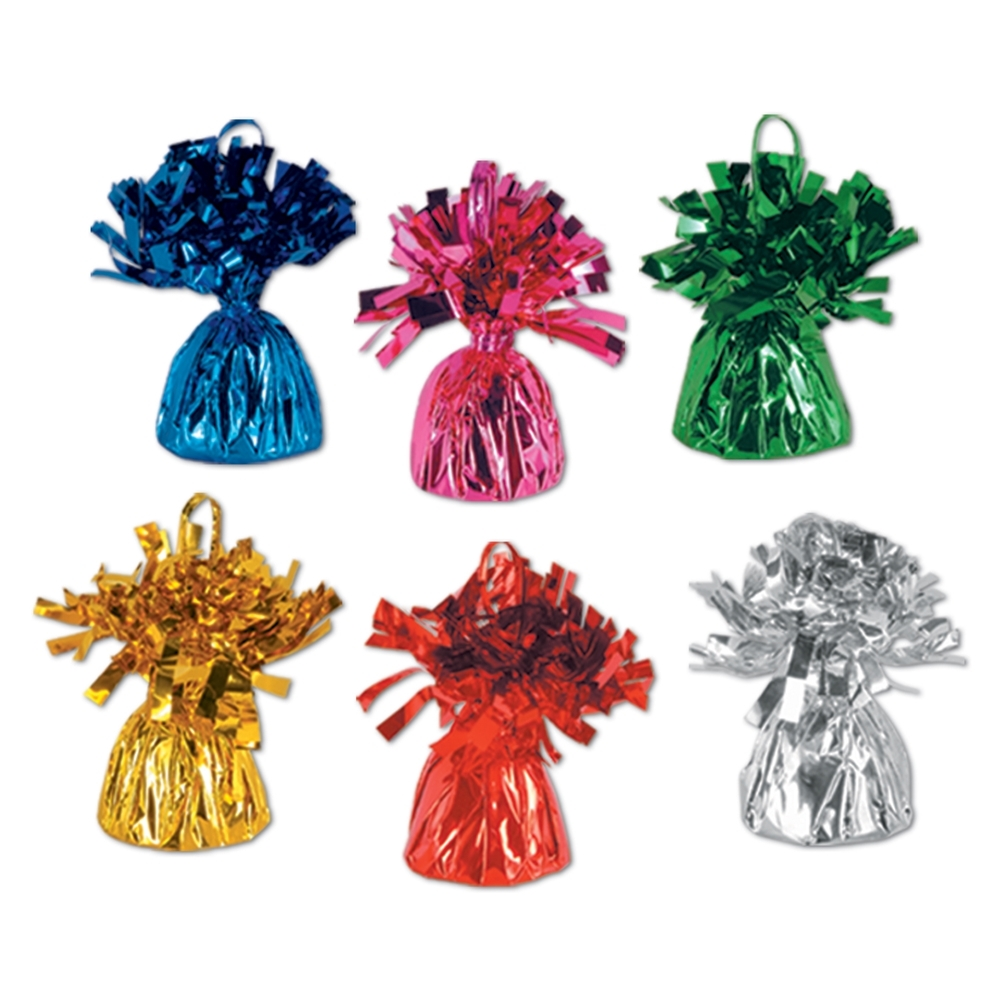 6oz Metallic Wrapped Balloon Weights (Pack of 12) metallic, wrapped, balloon, weights, pack, party, table, decoration, centerpiece, favor, celebration, event, bar, restaurant, hotel, casino, favor, decoration, new years eve, christmas, valentines day, halloween, wholesale, inexpensive, bulk