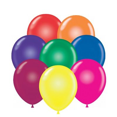 "9"" Crystal Balloons (Pack of 100) - SELECT A COLOR crystal, balloons, 9, inches, assorted, colors, new years eve, drop, decoration, inexpensive, wholesale, bulk"