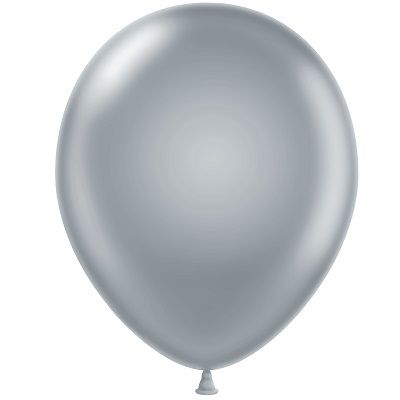 "9"" Silver Balloons (Pk 100)  9, inches, silver, balloons, new years eve, decoration, drop, wholesale, bulk, inexpensive"