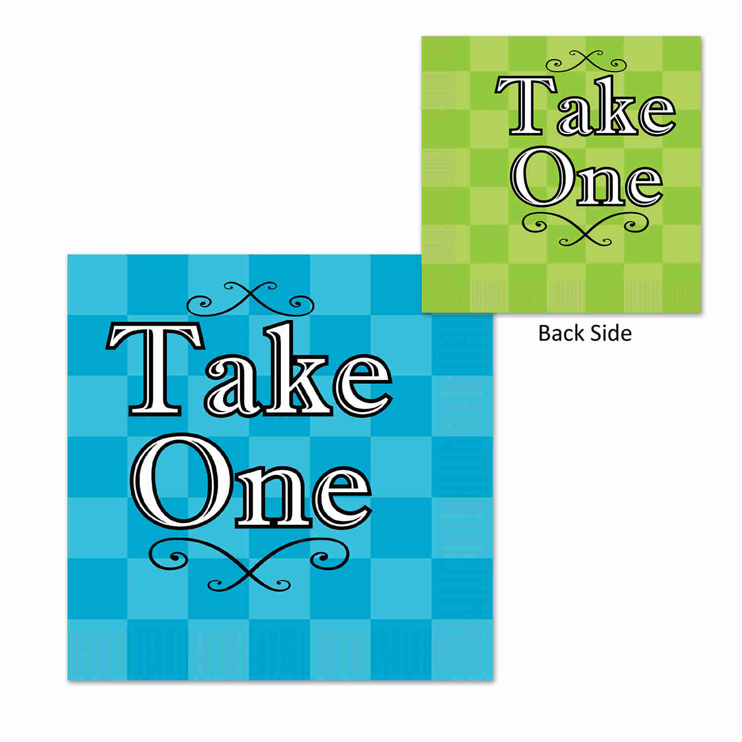 Blue and Green Alice In Wonderland Luncheon Napkins
