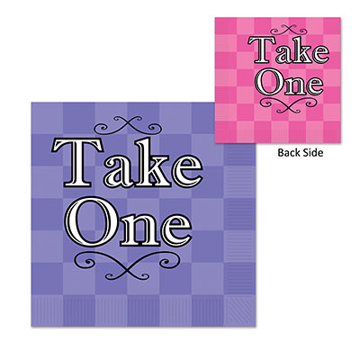 Purple and Pink Alice In Wonderland Luncheon Napkins