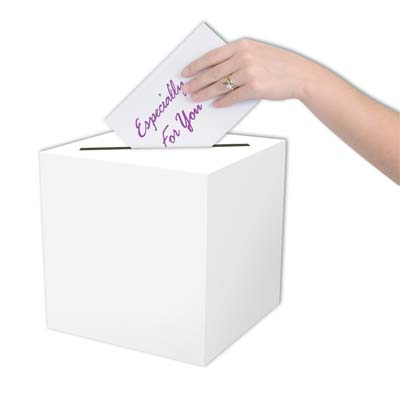 White All-Purpose Card Box for any type of party