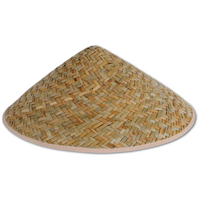 Adult sized asian sun hat.