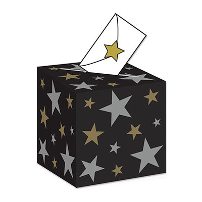 The Awards Night Ballot Box has solid black background with assorted sized gold and silver stars.