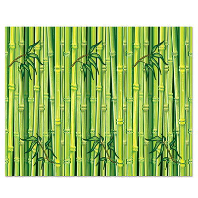 Bamboo Backdrop printed on thin plastic material.