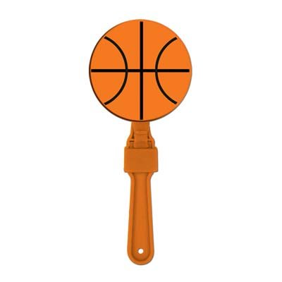 Plastic designed basketball clapper.