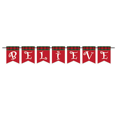 Believe Streamer (Pack of 12) Believe Streamer, christmas, decoration, banner, wholesale, inexpensive, bulk