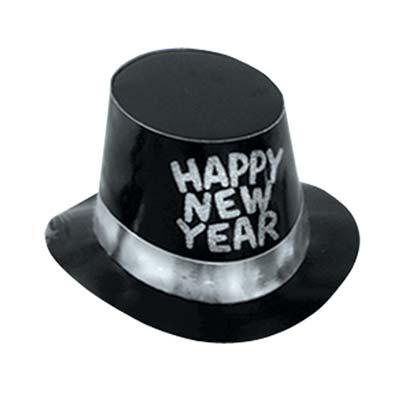 Black Hi-Hat w/Glittered HNY