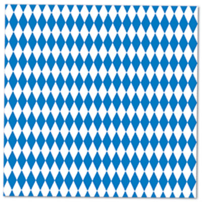 Blue & White Luncheon Napkins for Oktoberfest