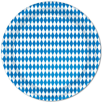 Blue & White Plates can be used for Oktoberfest