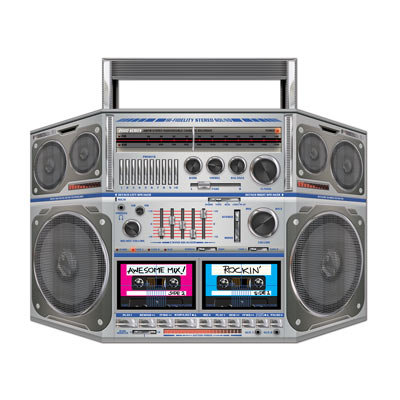 Boom Box Stand-Up 80s Party Decoration