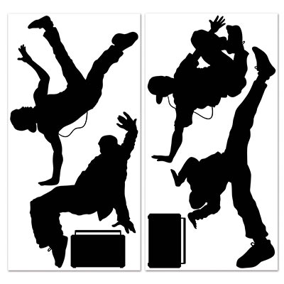 Break Dancer Props Silhouettes