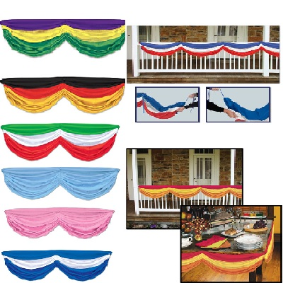 Choose your color fabric bunting of various color options.