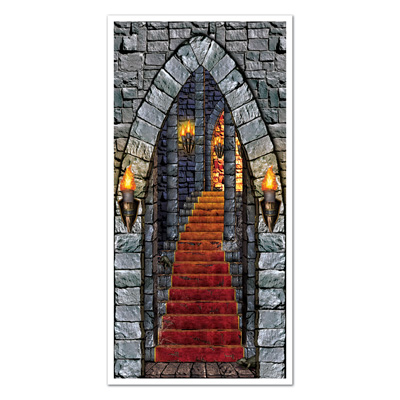 Castle Entrance Door Cover (Pack of 12) Castle Entrance Door Cover, decoration, wholesale, medieval, inexpensive, bulk, new years eve