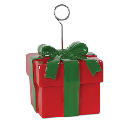 Christmas Gift Box Photo or Balloon Holder