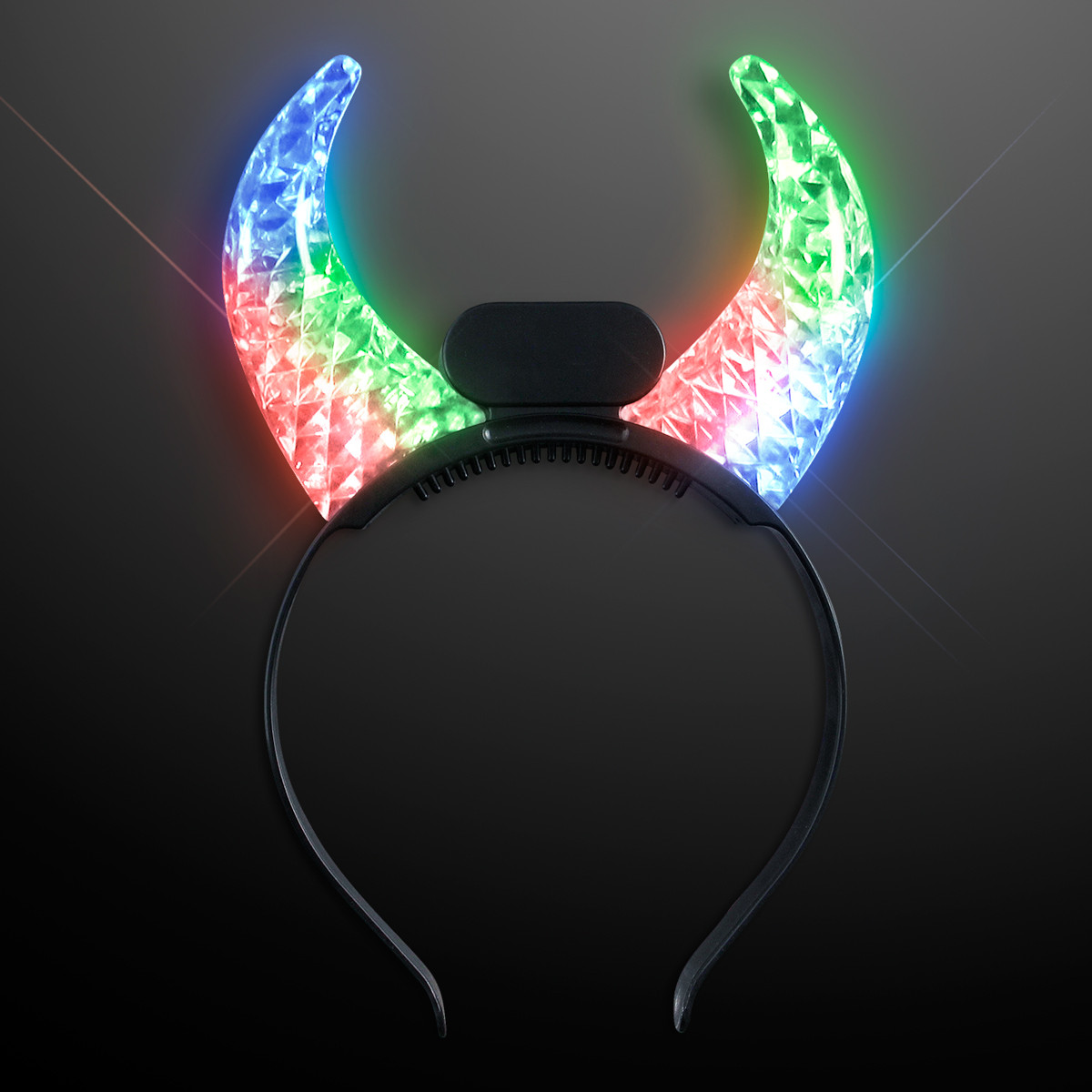 Color Changing LED Devil Horns (Pack of 12)