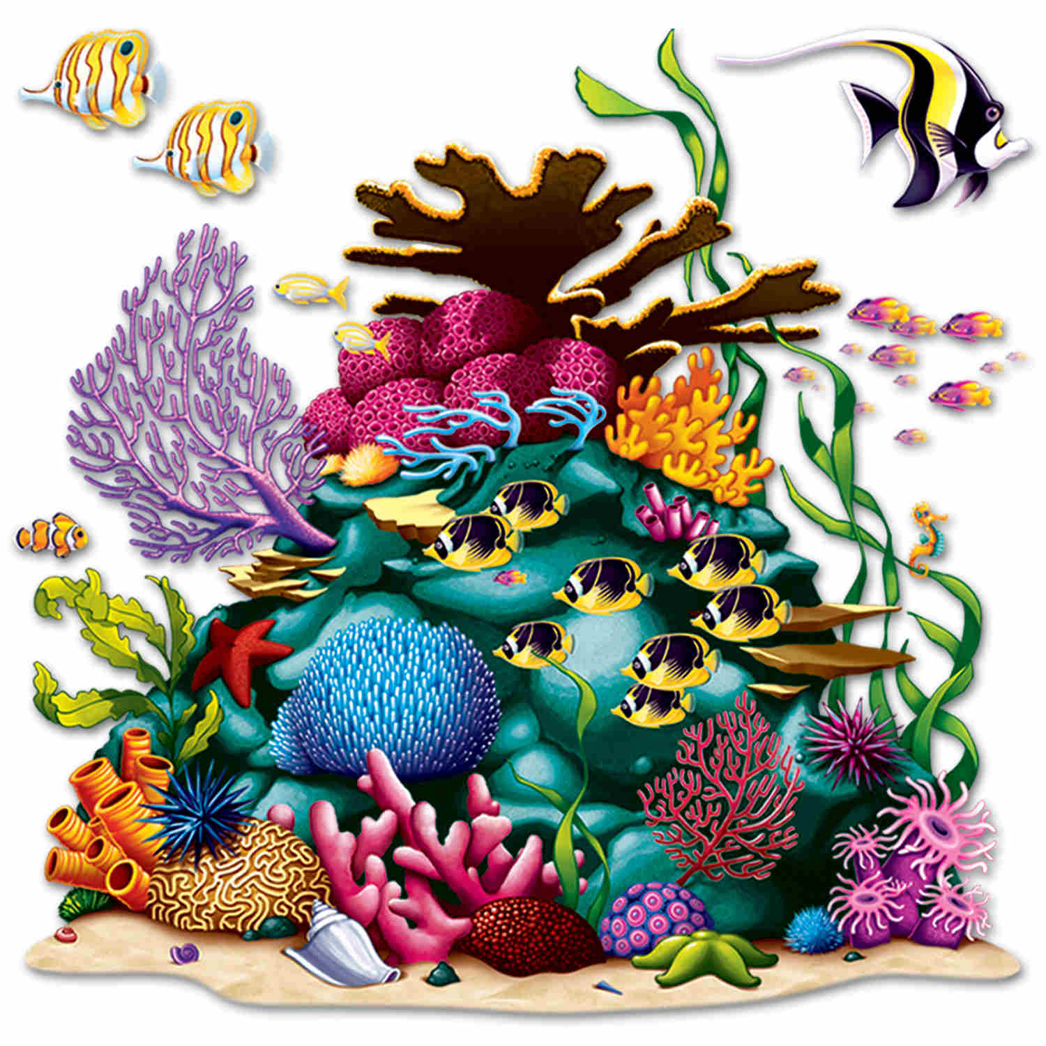 Coral Reef Prop (Pack of 12) sea, ocean, fish, coral reef, under the sea