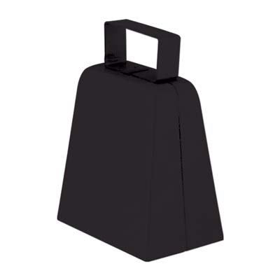 Black cowbells with bell included.