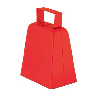 Red cowbells with bell included.
