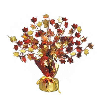 Fall Leaves Gleam N Burst Centerpiece (Pack of 12) fall decor, fall leaves, fall table center piece, fall party decorations, thanksgiving center piece